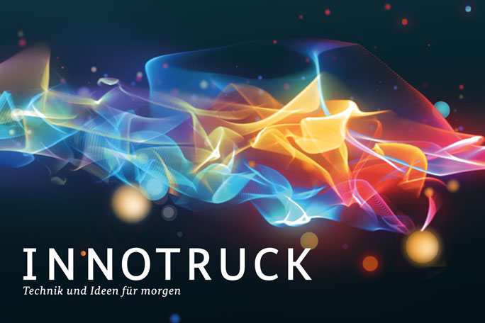 Bild zeigt Keyvisual der Initiative InnoTruck: Den Innovationsstream